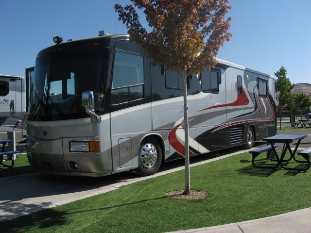2005 Travel Supreme Toy Hauler With 2 Slides Class A Motorhome