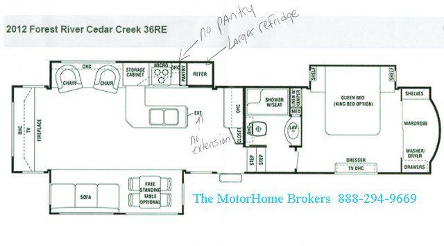 2012 Cedar Creek 36re Touring Edition Fifth Wheel
