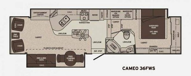 2011 Carriage Cameo 36fws Fifth Wheel