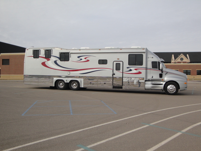 2003 kingsley coach custom with garage class a motorhome Rv with garage