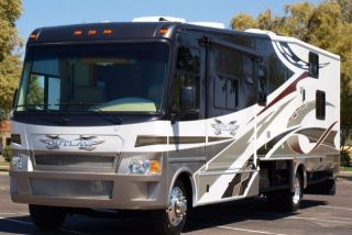 2009 damon outlaw scorpion 3808 12 39 garage class a motorhome for Class a rv with car garage