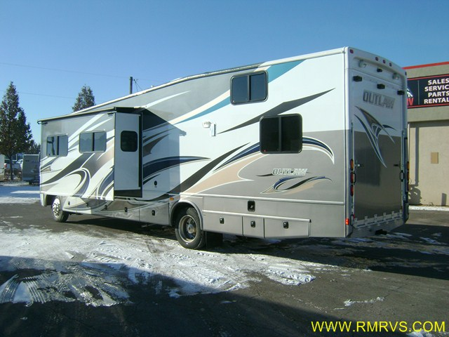 2012 OUTLAW 3611 TOY HAULER MOTORHOME, LOWEST PRICE ...